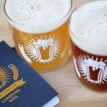 Beer Passport branded 2/3 Pint Tubo Glass